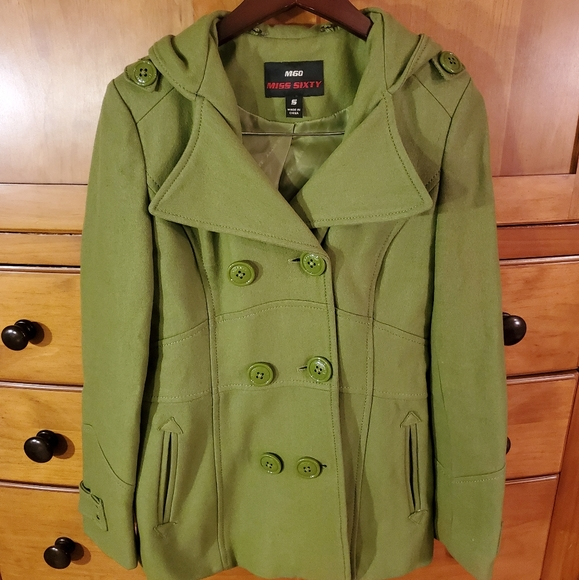 Gorgeous green Miss Sixty Wool Coat